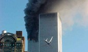 Second airplane hit on the Twin Towers.
