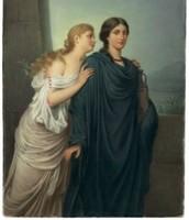 Antigone and Isemene