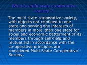 multi state cooperative society