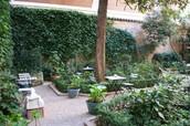 Terraza del museo Romántico