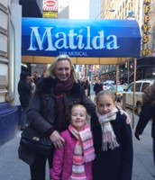 Mother and daughters at Matilda