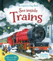 """See Inside Trains"" and Usborne Flip Book"