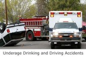 Underage drinking and driving causes accidents