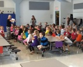 Ms. Corbin &     Mrs. Haupt's classes learning about cafeteria procedures!