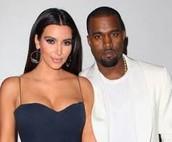 Kanye West with Kim Kardashian