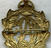 Royal Canadian Air Force enlisted Man Cap Badge