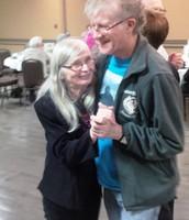 Aina and David Flack, my happy dancing Thorold volunteers