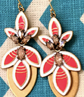 HIBISCUS EARRINGS:  Share the style and get rewarded with these beauties