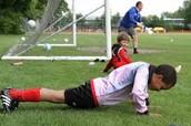 En el futuro yo voy a jugar futbol.
