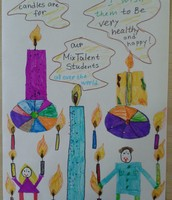 Erhan's candle picture ,2nd grade