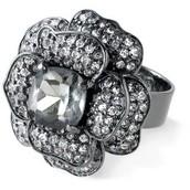 Belle Fleur Hematite ring