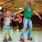 Something happens when you put on a pair of roller skates!