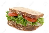 Turkey, Lettuce and Tomato Sandwich on Whole-Grain Bread
