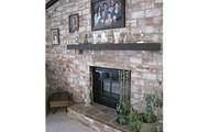 Beautiful Woodburning Fireplace