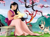 caharacter- a person o animal in a story. mulan , sister ,brother , mother, father ,the emperor of china.