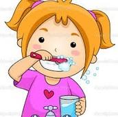 Cepillé los dientes
