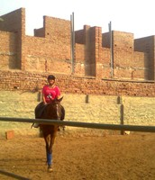 Learning horse riding