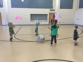 Juggling with scarves!