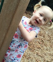 Addison at playground.
