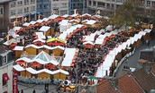A typical French market during December
