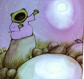 The frog with the moon