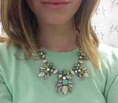 Everyone will be green with envy over this statement necklace
