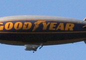 Helium is used for balloons and blimps such as this picture.