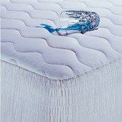 100% Cotton Waterproof Mattress Pad with Antimicrobial Fill ~ $33.99