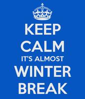 Winter Break: Dec. 19 - Jan. 12