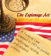 June 15, 1917 - Espionage Act