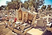 This is a picture of one of the many Cemetery from the found bodies of those that died from an earthquake.