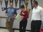 Mr. Peters Honored