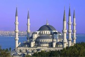 This is the Blue Mosque in Turkey