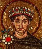 Emperor justinian begins his regin