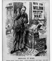 Political cartoon on Woodrow Wilson