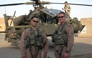 Here are two apache helicopter pilots