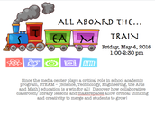 Library Media 1st Friday - STEAM - Science, Technology , Engineering, Arts and Math! with Jornea Erwin - May 6th