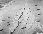 American ships off Omaha Beach