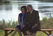 Lyndon B. Johnson and his wife Claudia A. Johnson