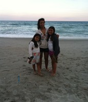 My Mom with my little sister, and my little cousin