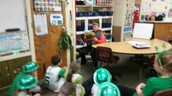 Reading to the second graders!
