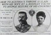 The assassination of archduke Ferdinand and his wife