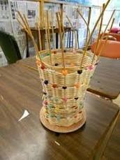 Monday:  Basket Weaving