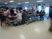 Veterans enjoying the food!