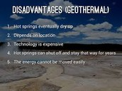 disadvantages of Geo-thermal