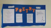 National Poetry Month Hall Bulletin Board