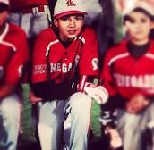 When he was little.
