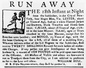 """Fugitive Slave Advertisement, New York, 1763"""