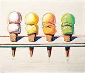 Four Ice Cream Cones, 1964