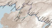 This is a picture of the long Iditarod trail.